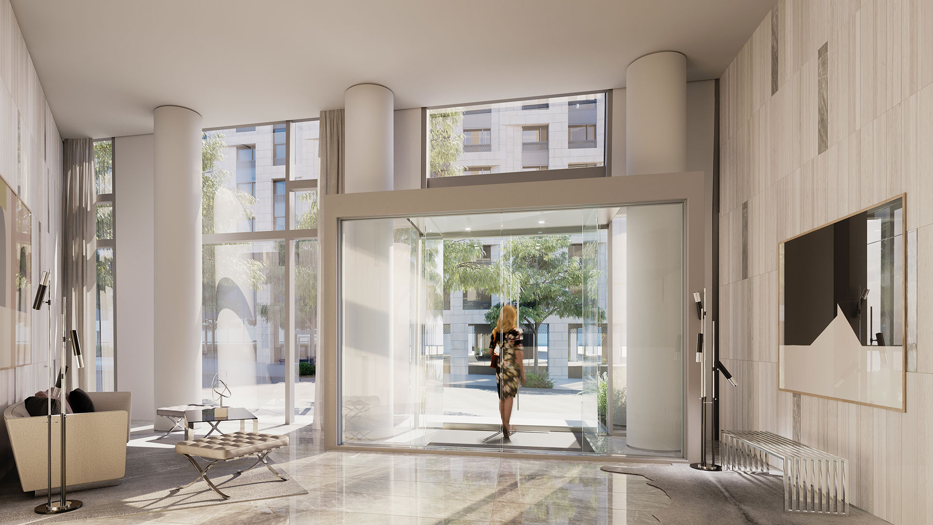 nyc apartments with luxury lobby and doorman