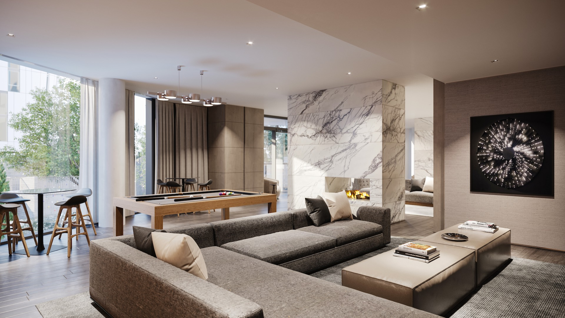luxury nyc apartments with game room