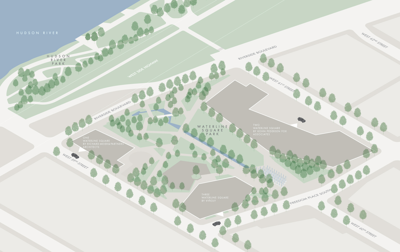 map of waterline square park