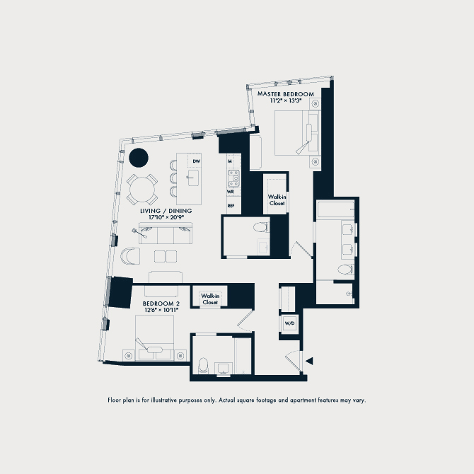 804 One Waterline Square Floor Plan