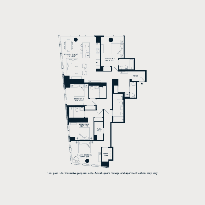 1612 Two Waterline Square Floor Plan