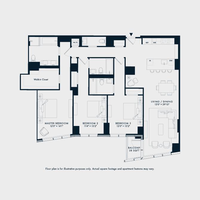 1207  Floor Plan