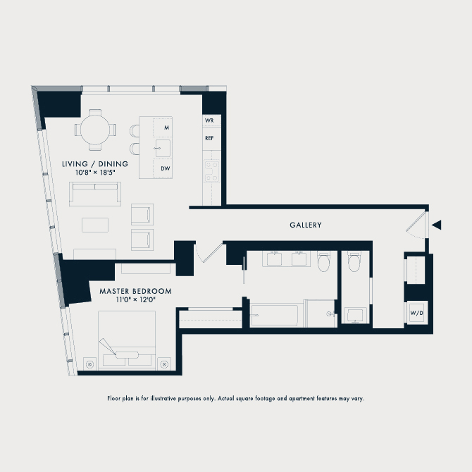 1012 Two Waterline Square Floor Plan