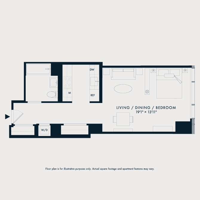 617 Two Waterline Square Floor Plan