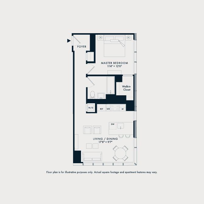 1404 Two Waterline Square Floor Plan