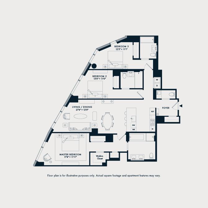 1407  Floor Plan