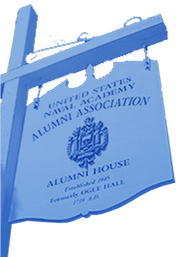 USNA Alumni Association sign