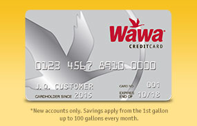 Save 25¢ per gallon* on Wawa Fuel for the first two months