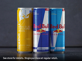 Get Energized - 2 for $5 Red Bull 12 oz.
