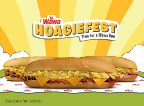 $4.99 Classic Breakfast Hoagies. Available 5am - 11am.