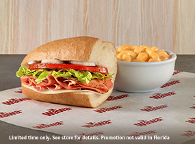 $5 Hoagie Combo - Any Junior Hoagie plus Medium Soup or Side