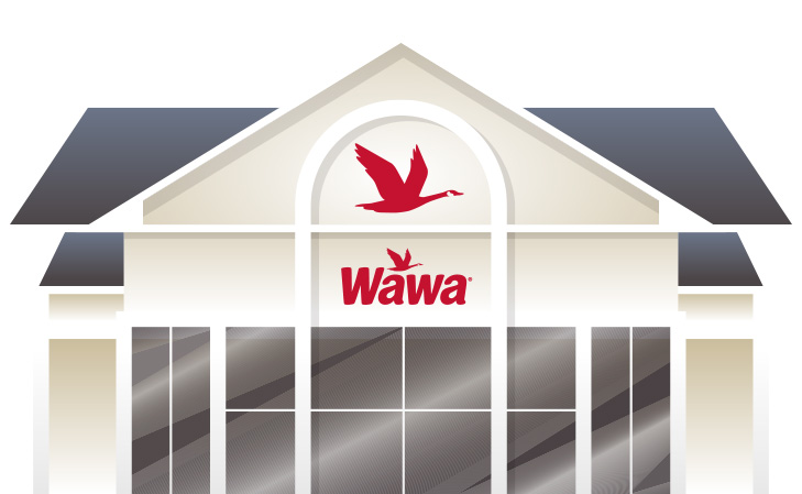 Illustration of a remodeled Wawa Store