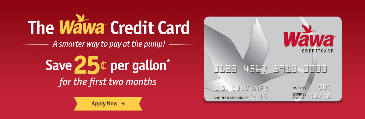 Wawa credit card save on fuel with the wawa gas credit card wawa the wawa credit card save 25 per gallon for the first two months reheart Images