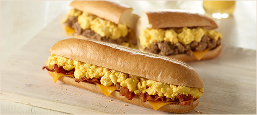 Enjoy a Classic Breakfast Hoagie for $4.99 from 5am to 11am