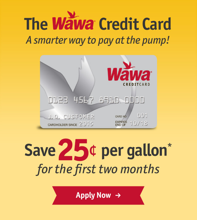 wawa credit card save on fuel with the wawa gas credit card wawa. Black Bedroom Furniture Sets. Home Design Ideas