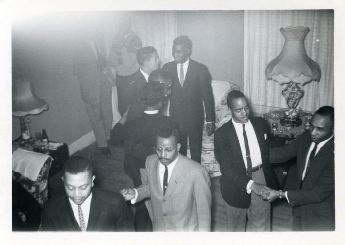 Photograph of members of The West Set: The Gentlemen's Social Club of West Philadelphia, 1954. Courtesy of the Black LGBT Archivists Society of Philadelphia