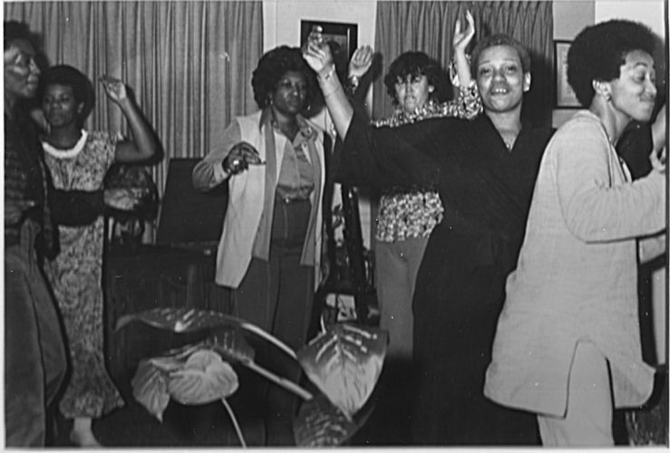 Photograph of a black lesbian house party in Philadelphia, 1970. Courtesy of the Black LGBT Archivists Society of Philadelphia