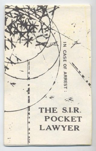 The S.I.R. Pocket Lawyer, published by the Society for Individual Rights, San Francisco, 1964. Joan Fleischmann Collection, John J. Wilcox, Jr. Archives
