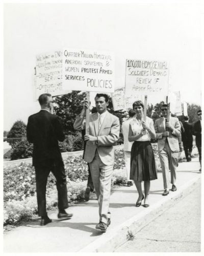 Gay rights protest at the Pentagon, July 31, 1965. Courtesy of the Franklin Kameny Papers, Library of Congress