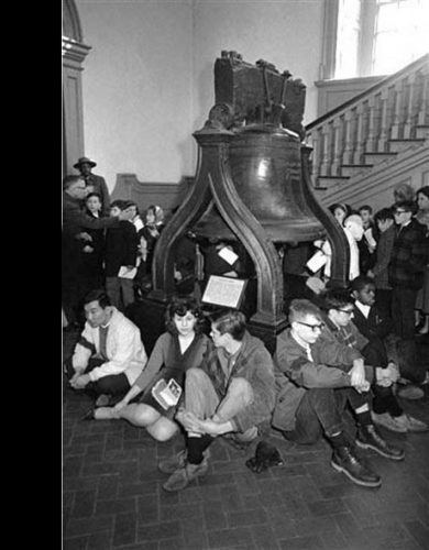 Black civil rights protest at Independence Hall, May 12, 1963. Courtesy of AP