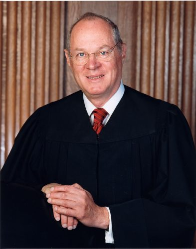 Anthony M. Kennedy, Justice of the United States of America. Collection of the Supreme Court of the United States, Photographer: Steve Petteway, undated.