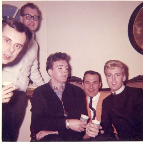 Photograph of young men at a Philadelphia house party in the 1960s. Jack Van Alstyne Collection, John J. Wilcox, Jr. Archives
