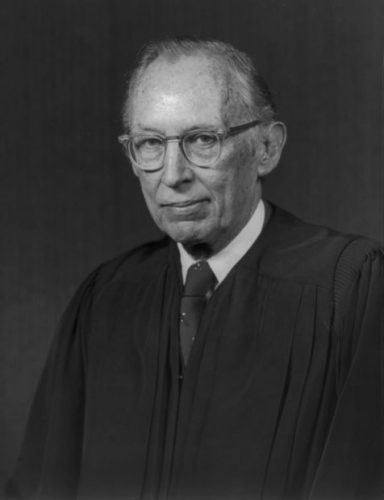 Official portraits of the 1976 U.S. Supreme Court: Justice Lewis F. Powell, Jr. Courtesy of the Library of Congress.