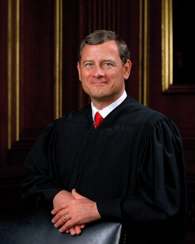John G. Roberts, Jr., Chief Justice of the United States of America. Collection of the Supreme Court of the United States, Photographer: Steve Petteway, 2005.