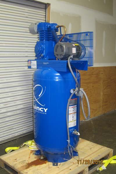 Quincy Auto Auction >> Lot #6: Quincy 5 HP 80 Gallon Two-Stage Air Compressor ...