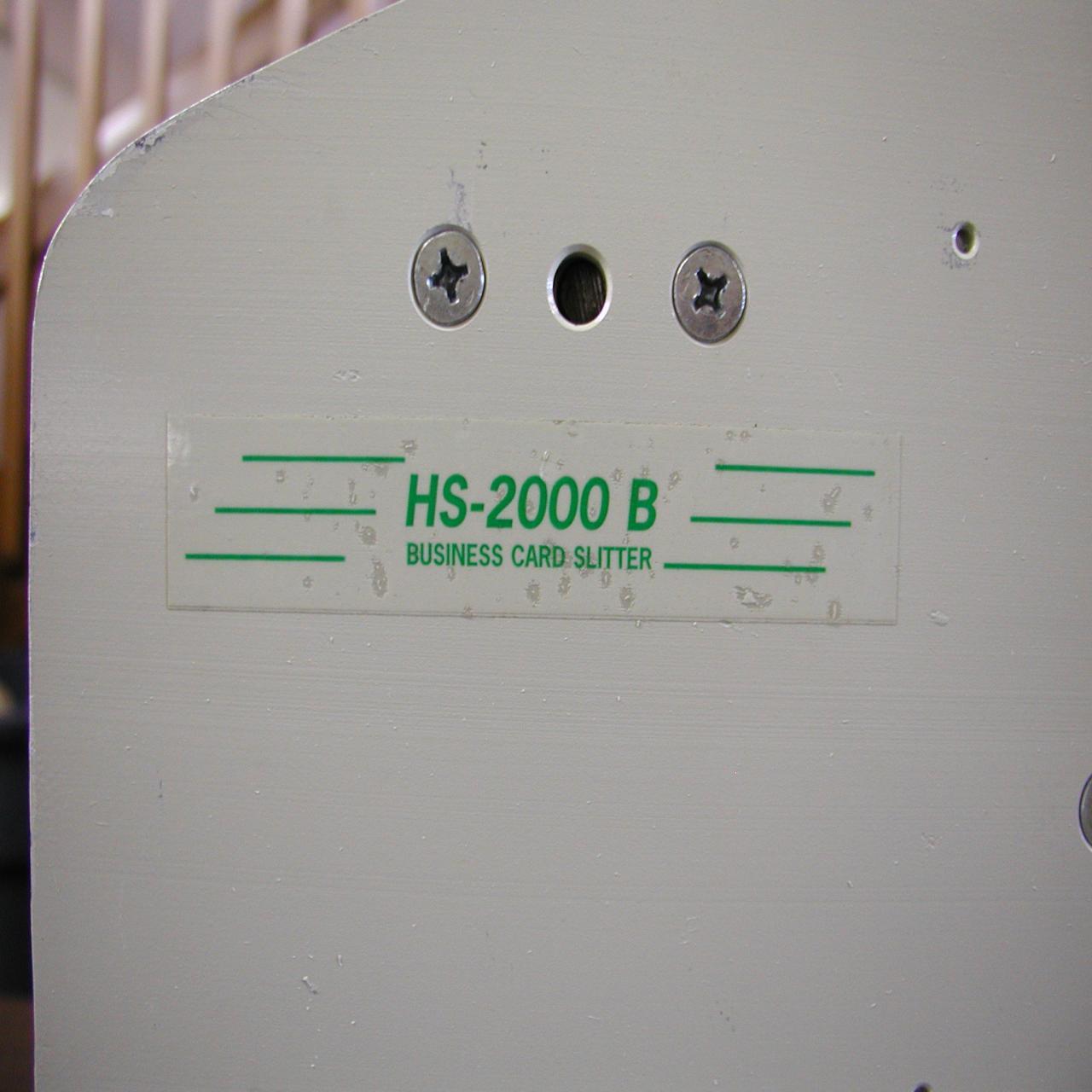 Lot #24: HS-2000-A-B Electric Business Card Cutter - WireBids