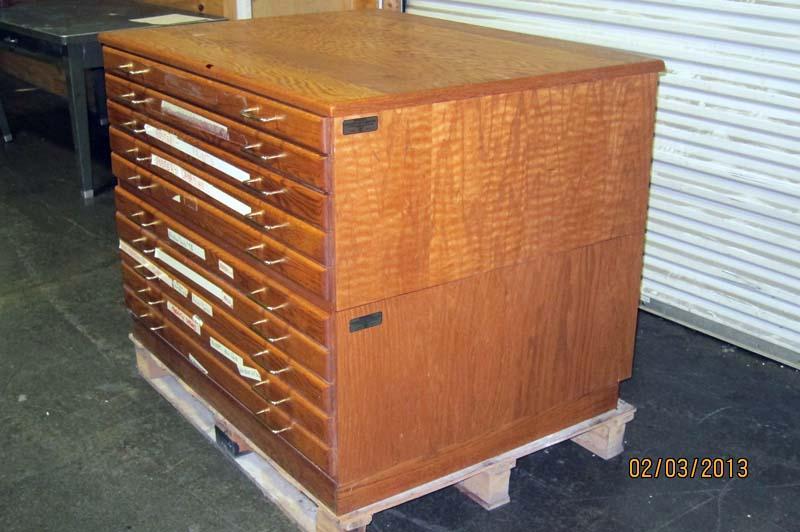 Furniture For Studios lot #77: windsor golden oak furniture for drafting rooms & studios