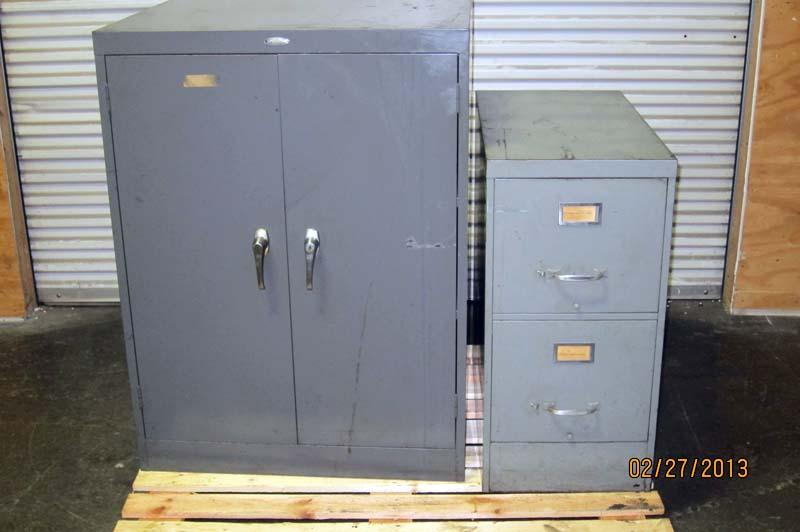 Lot #81: Cole Steel Storage Cabinet and File Cabinet - WireBids