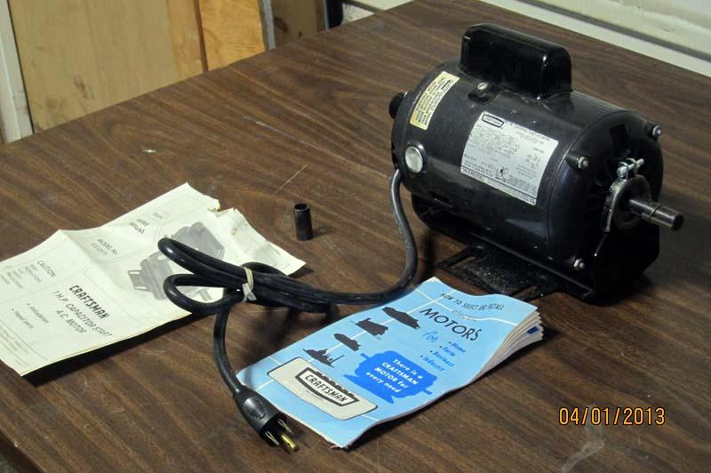 Lot 99 Craftsman Model 1hp Capacitor Start Ac Motor Wirebids