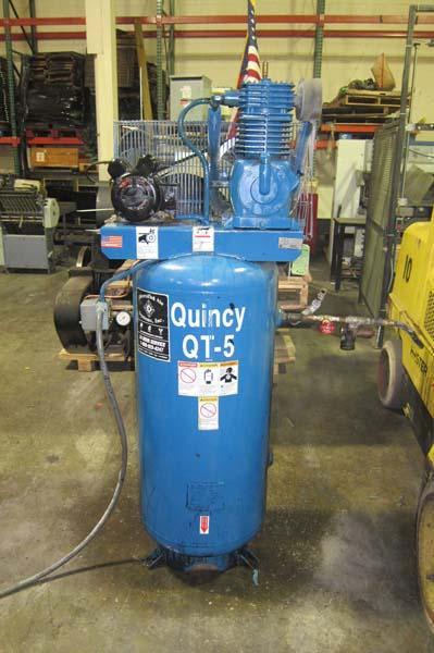 Quincy Auto Auction >> Lot #6: Quincy QT-5 60Gallon 5Hp Air Compressor S/n 5027701 - WireBids