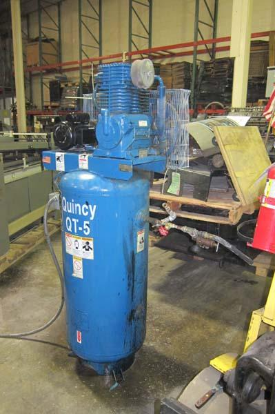 Lot 6 quincy qt 5 60gallon 5hp air compressor s n for Dayton air compressor motor