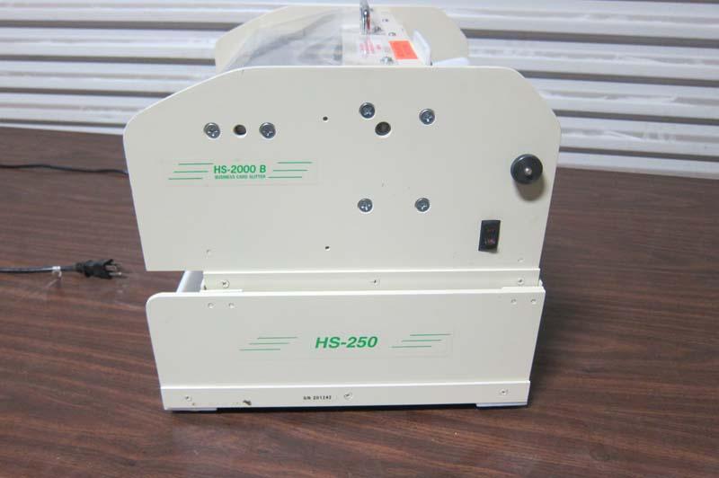 Lot 45 HS 2000 B Business Card Slitter WireBids