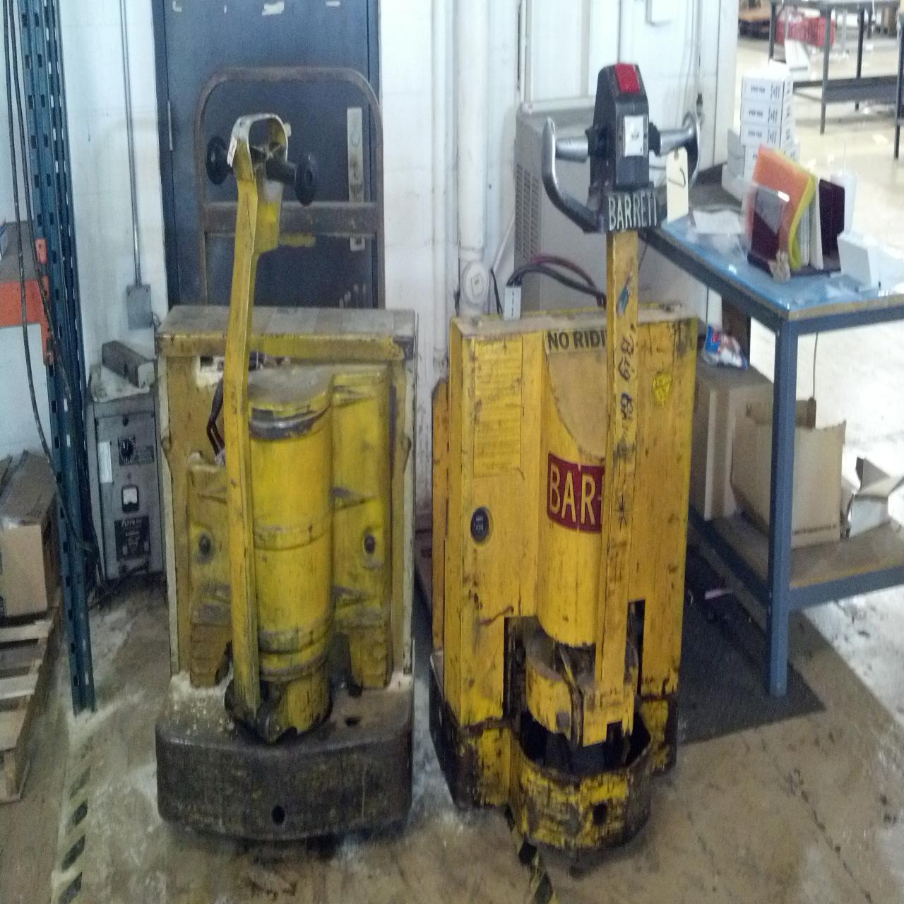 Lot 7 Two Walk Behind Electric Pallet Jacks 4000 Lb