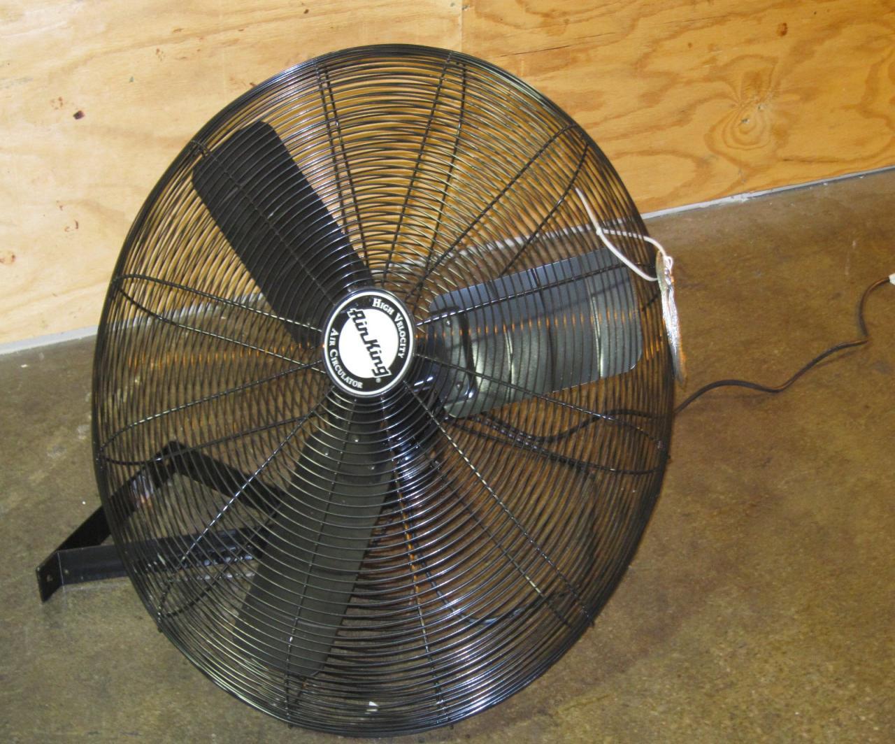 Air King Wall Mount Fan : Lot air king hp industrial grade wall mount