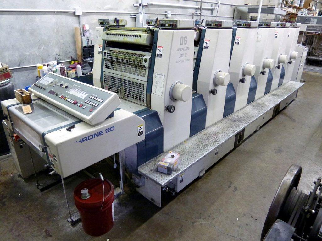 Color press printing - Komori Lithrone L620 Six Color Printing Press 14 X 20