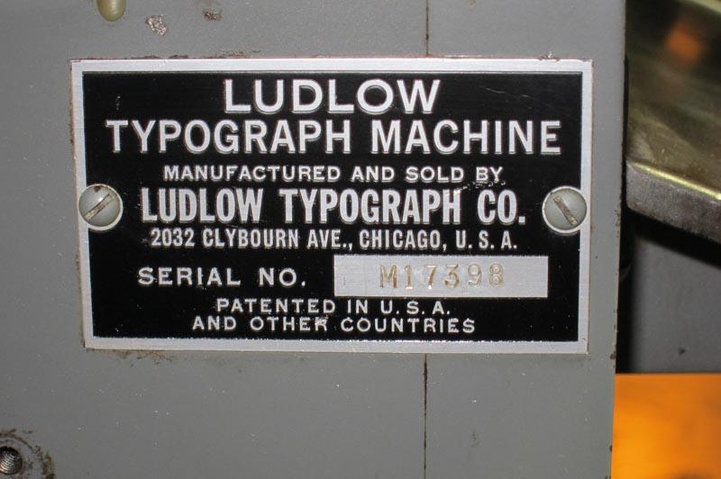 Lot 3 Ludlow Typograph Machine Model M Wirebids