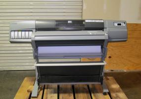 A photo of HP Designjet 5500PS Printer w/ SpinJet Attachment (double sided printing)