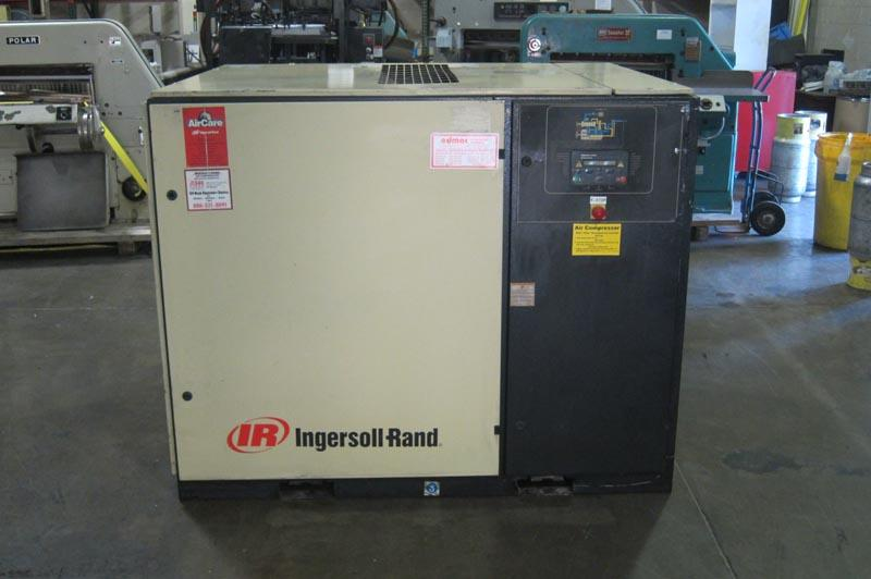 Lot 13 ingersoll rand 50 hp rotary screw air compressor for Ingersoll rand air compressor motor starter
