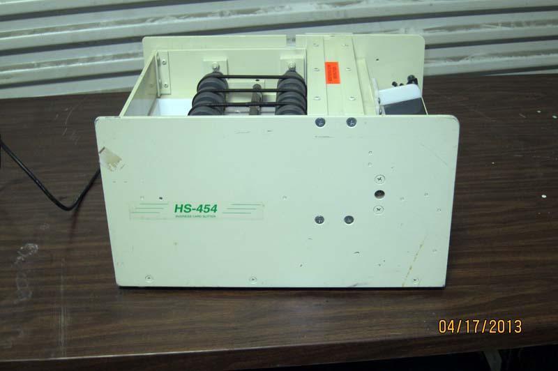 Lot 44 Business Card Slitter HS 454 WireBids