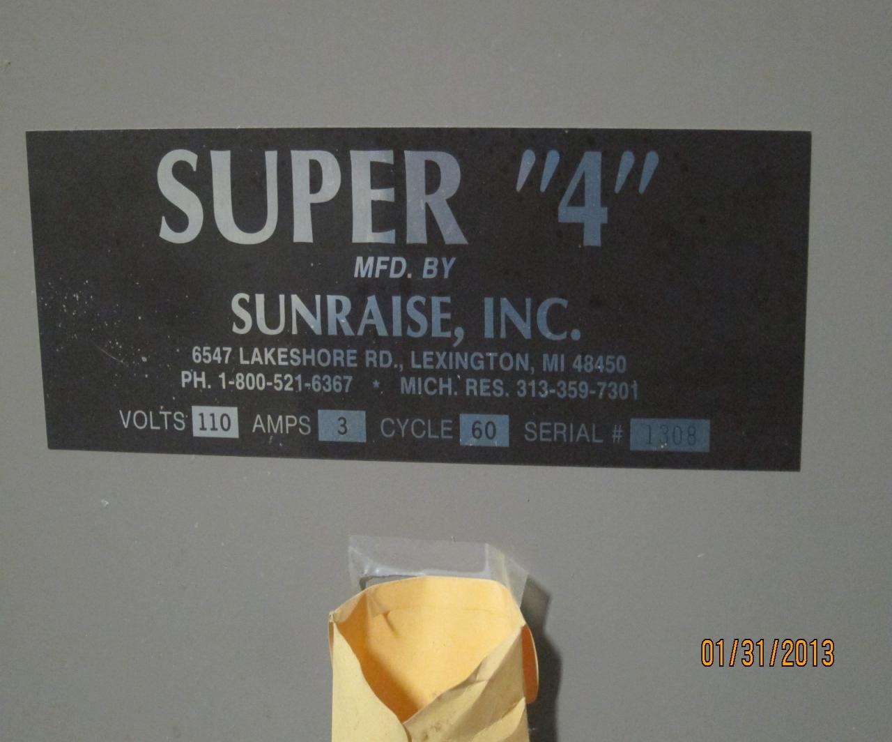 Lot 52 Sunraise Super 4 Business Card Slitter WireBids