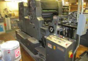 1984 Heidelberg MOZP 2 Color Printing Press s/n 604135