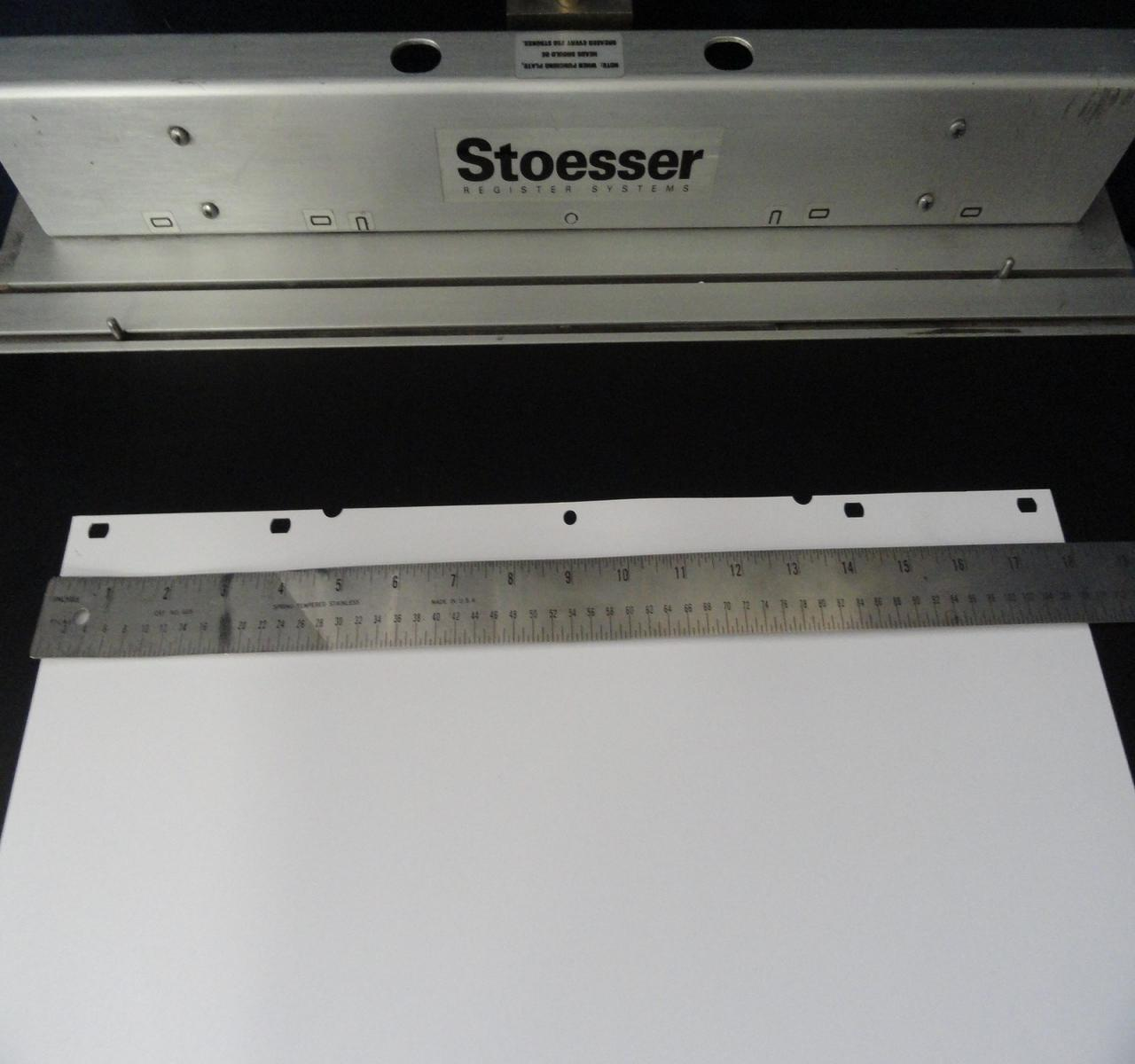 Lot 61 Stoesser Register Systems Pin Bar Plate Punch