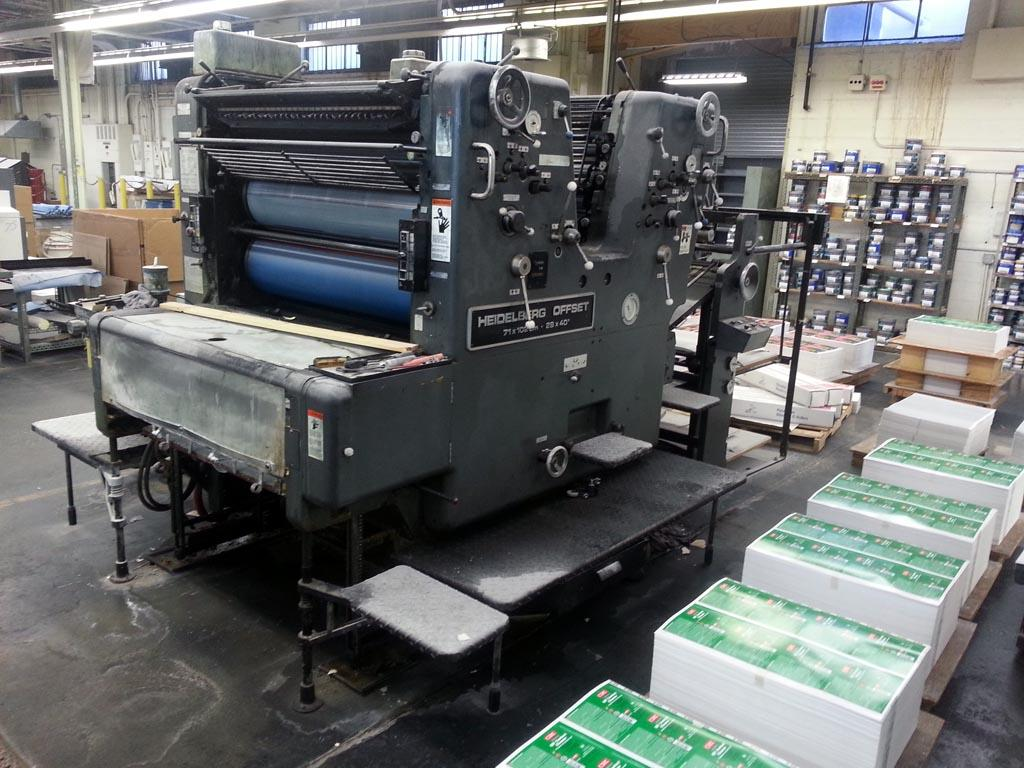 offset printing presses Here's a press with a lot of life left at 27 million impressions this four-color press features automatic plate changers, ink roller and blanket wash with tower coater.