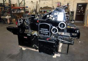 "a photo of Heidelberg KS 15"" x 20"" Cylinder Diecutter w/ Inking Unit"
