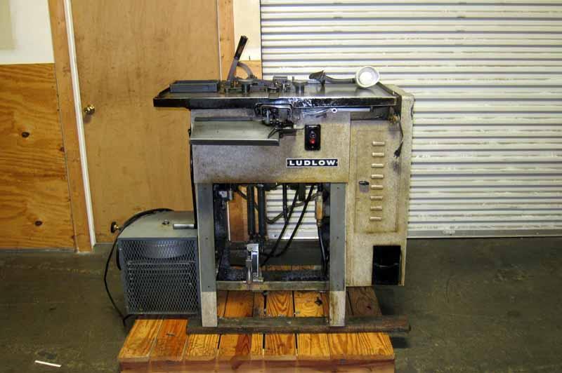 Lot 1 Ludlow Typograph Machine Wirebids