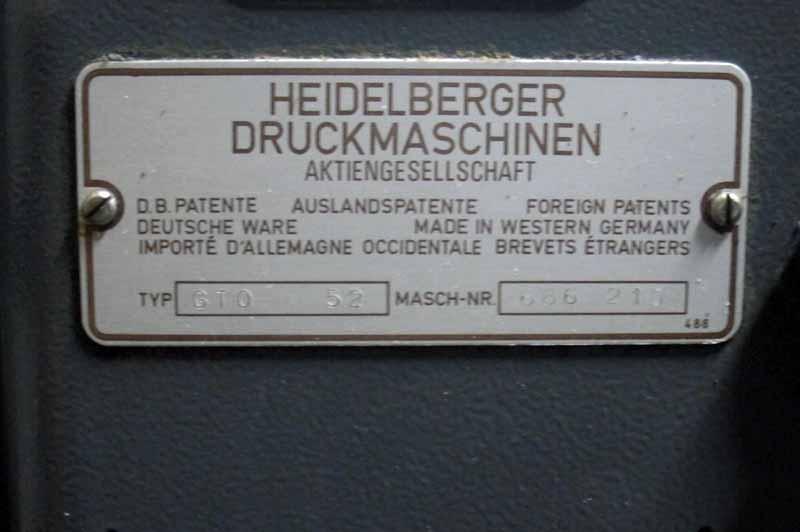 Heidelberg GTO 52 | IMPORT STOCKIST | mesinpercetakan.com